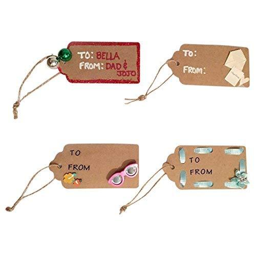 Etichette marroni etichette per bomboniere con spago di iuta per artigianato e etichette dei prezzi 30 metri di lunghezza 3 cm x 5 cm 100 pz etichette regalo in carta kraft con cordoncino