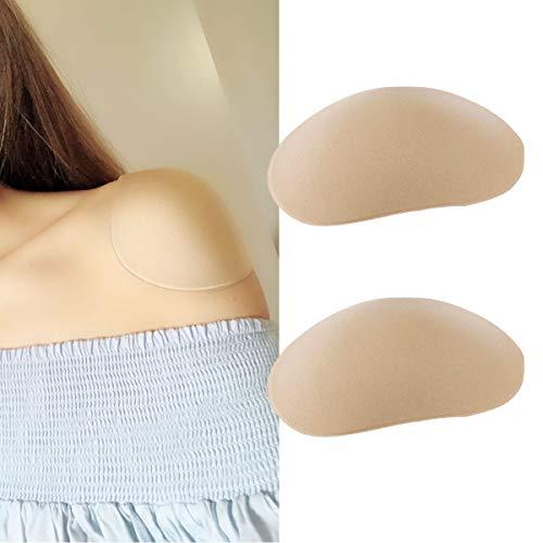 ne Shoulder Push-up Pads Adhesive Shoulder Enhancer Shoulder Pads Nude One Size ()