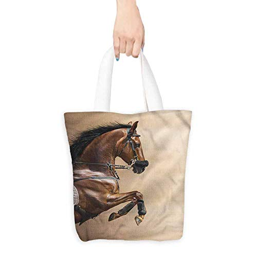 Handbag or crossbody messenger bag,Horses Show Animals with a Leash,Reusable Grocery Bags,16.5