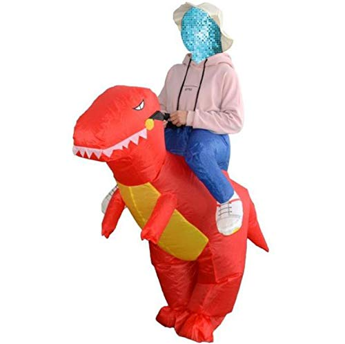 Dinosaur Costume Halloween Costume disfraces Fancy Dress Animal Cloth Fan Operated,Red,L -