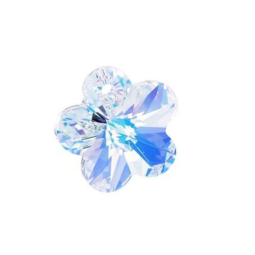 Swarovski Crystal, 6744 Flower Pendant 18mm, 1 Piece, Crystal AB