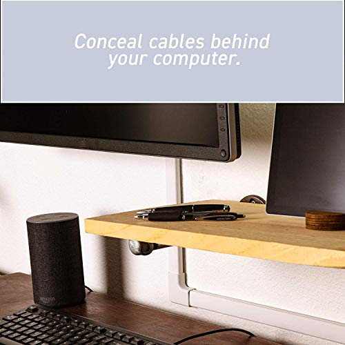 Wiremold Cable Management Kit, CordMate II, Cord Organizer and Hider, Cord Cover, Concealer, and Protector for Wall, Medium Capacity, CMK50