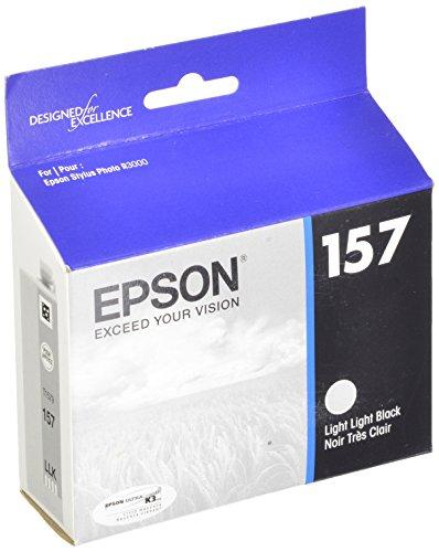 - Epson UltraChrome K3 157 Inkjet Cartridge (Light Light Black) (T157920)