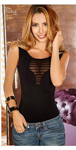 Ideal Womens Body Shaper Blouse Blusa Fajas Colombianas Ab Control Ref Milwaukke (BLACK, ...