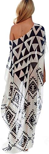 Ailunsnika Women Loose Kaftan Swimsuit Cover Up Beach Long Casual Caftan Dress