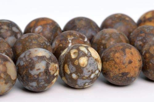 12mm Natural Matte Coffee Brown Opal Beads Africa Round Loose Beads 15.5'' Crafting Key Chain Bracelet Necklace Jewelry Accessories Pendants