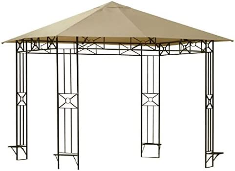 Garden Winds LCM444B-RS Cola Gazebo Rip Lock 350 Replacement Canopy, Beige
