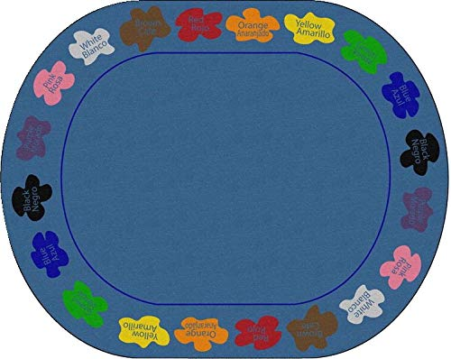 Childcraft Learn Your Colors Bilingual Carpet, 10 Feet 6 Inches x 13 Feet 2 Inches, Oval