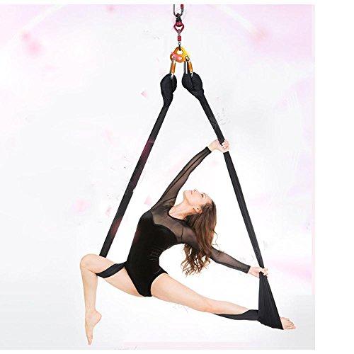 Hamac de yoga anti-gravité Yoga Air Single Point extensible, 3 mousquetons métalliques sécurisés, 1x plaque fixe TRX et anneau universel à 360 degrés inclus, 500 * 280cm