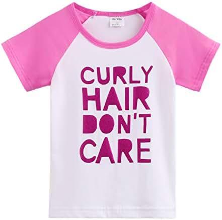 Toddler Baby Girls Boys Raglan Tees for Short Sleeve Cotton T-Shirt Baseball Jesey Culy Hair Don't Care …