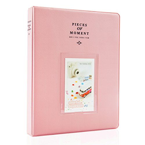 CAIUL Compatible 128 Pockets Mini Photo Album for Fujifilm Instax Mini 7s 8 8+ 9 25 26 50s 70 90 Film, Polaroid PIC-300 Z2300 Film (Pink)