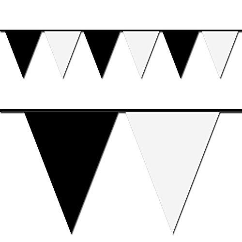 100' Black & White Pennant Flag ()