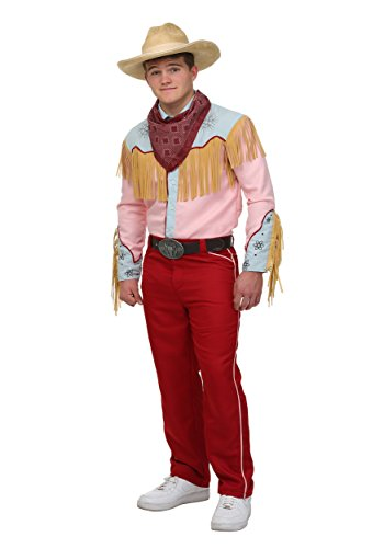 Back to The Future Cowboy Marty Costume Large Red -