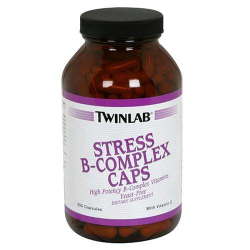 Twinlab Stress B-Complex Caps avec la vitamine C, 250 Capsules
