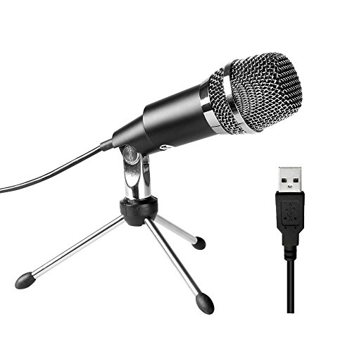 Fifine USB Microphone, Plug &Play Home Studio USB Condenser Microphone for Skype, Recordings for YouTube, Google Voice Search, Games(Windows/Mac)-K668 Desktop Recording Microphone