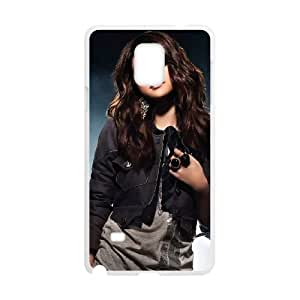 selena marie gomez Samsung Galaxy Note 4 Cell Phone Case White xlb2-051233