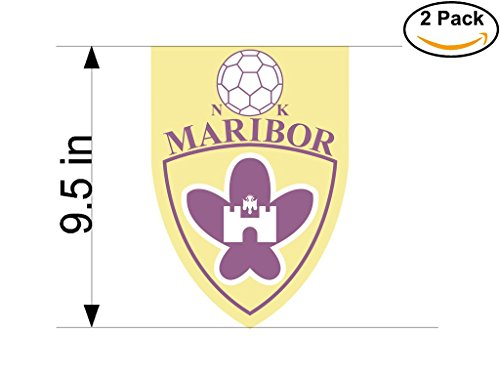 fan products of Maribor Slovenia Soccer Football Club FC 2 Stickers Car Bumper Window Sticker Decal Huge 9.5 inches