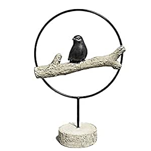 """Neo Front Retro style Sculpture handcraft""""The magpie forecasts good news"""""""