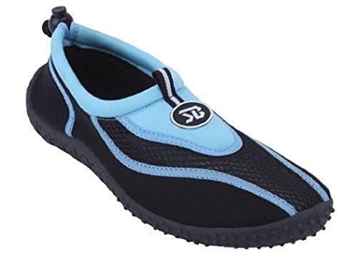 Mens Slip On Water Pool Aqua Sock Blu 5907