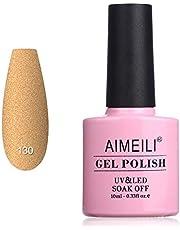 AIMEILI Soak Off UV LED Matte Gel Nail Polish - Belamcanda Chinensis (130) 10ml