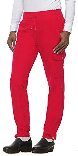 (healing hands HH360 Women's Nikki 9154 Button Cuff Yoga Waist Scrub Pant- Rose Blush- X-Large Petite)