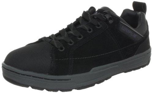 Caterpillar Mens Brode Steel-Toe Work Shoe Black Suede