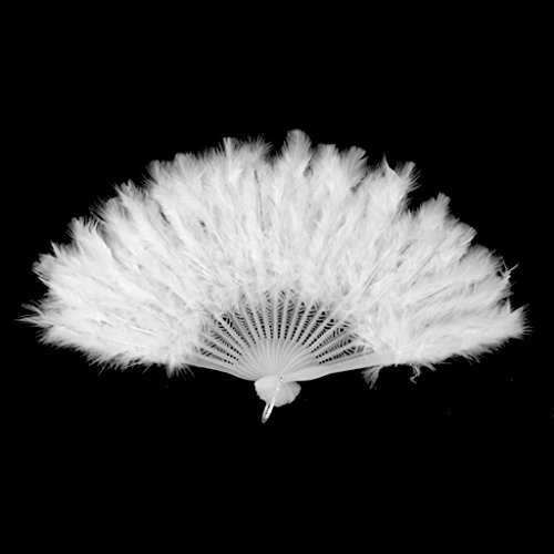 Creative Fan Feather Fancy Dress Accessory Costume Pengcher White Hand Dance gdqPxcwU