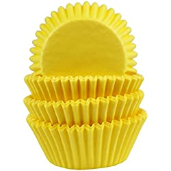 Baking Cups, Cupcake Liners, Birthday Party, Standard Size, Pack of 100 (Yellow)