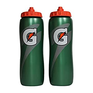 Gatorade 32 Oz Squeeze Water Sports Bottle Pack of 2 Easy Grip Design