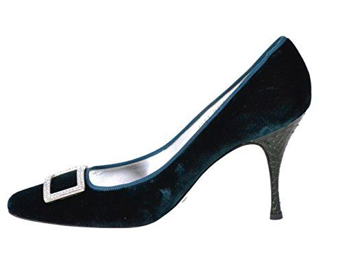 Dolce & Gabbana Women's Green Suede Pumps Size 9 (EU 39)