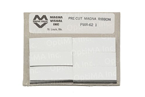 3/4'' x 2'' White Damp Erase Write On Wipe Off Colored Magnet Strips 25/Pkg by Magna Visual