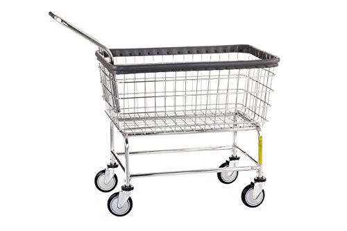 Large Capacity Laundry Cart (R&B Wire 200F Large Capacity Wire Rolling Laundry Cart with Clean Wheel System and Handle - All Chrome)