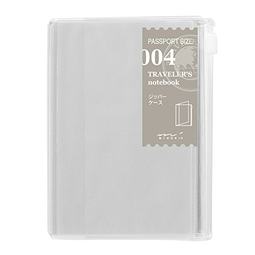 Midori Traveler's Notebook (Refill 004) Zipper Case Passport Size
