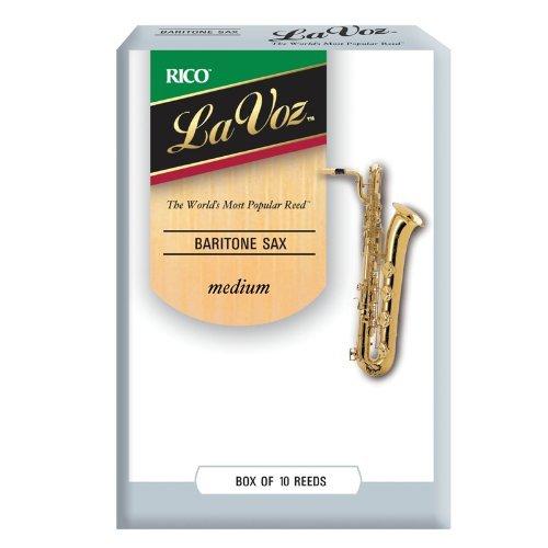 La Voz Baritone Sax Reeds, Strength Medium, 10-pack