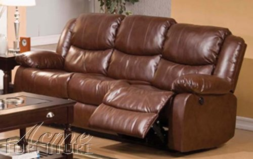 ACME 50200 Fullerton Bonded Leather Sofa, Brown