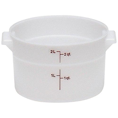 Storage Container, Round, 2 Qt., 8-3/16'' Dia. X 4-3/16''H,