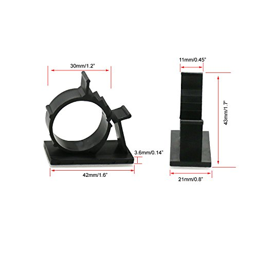 Office and Home MOSIN Adhesive Cable Organizer Cord Holder Black 50pcs Cable Clips Durable Strong Cable Wire Management for Car