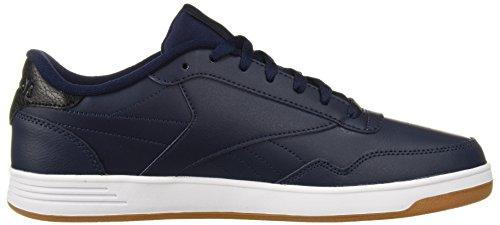 Reebok Men's Club MEMT Wide 4E Sneaker, White, D(M) US Us-collegiate Navy/Black