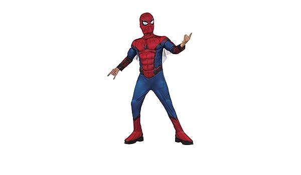 Rubies - Disfraz infantil de Spiderman, caja con músculos y mascara, 3-4 años (Rubies 155032-S)