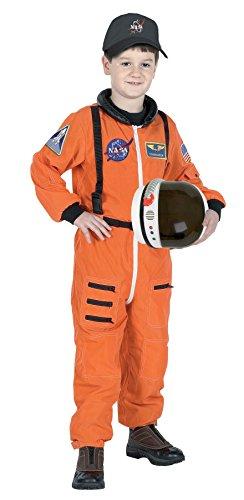 Aeromax Costumes Junior Astronaut Suit Orange (Junior Costumes)