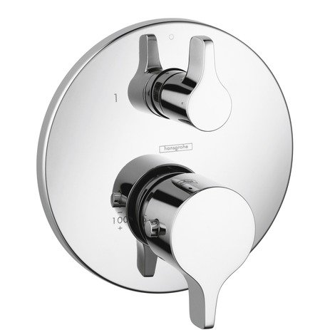 Hansgrohe 04352000 E/S Thermostatic Trim with Volume Control, Chrome Hansgrohe