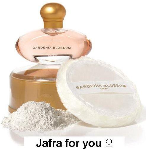 (Jafra Gardenia Blossom Perfume & Dusting Powder Set )