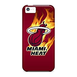 Durable Hard Cell-phone Case For Iphone 5c With Support Your Personal Customized Stylish Miami Heat Image AlissaDubois