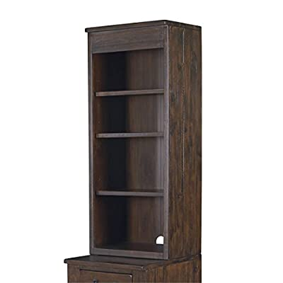 Magnussen Pine Hill Bunching Bookcase Cabinet Hutch in Rustic Pine