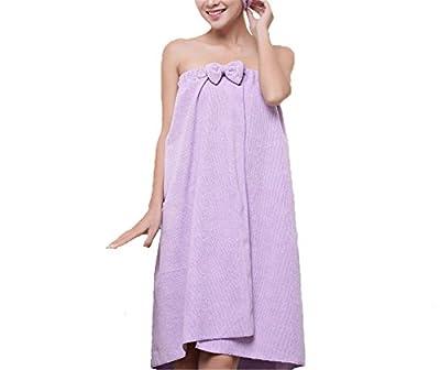 Reinhar New Cute Soft Microfiber Magic Absorbent Dry Velcro Spa Bath Towel Hair towel Set Beach Towel Dress Bathrobe For Adults