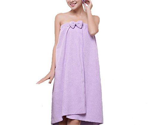 Reinhar New Cute Soft Microfiber Magic Absorbent Dry Velcro Spa Bath Towel  Hair towel Set Beach Towel Dress Bathrobe For Adults 92602ed0c