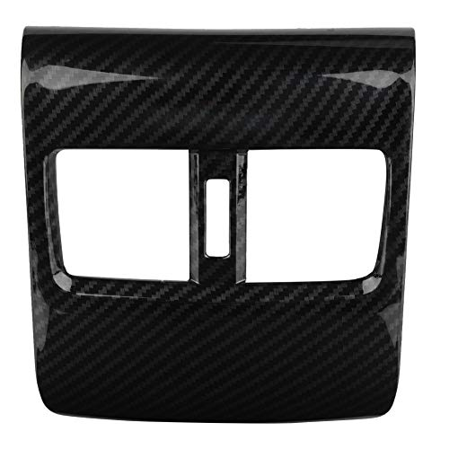Suuonee rear seat air conditioning outlet cover, Car Carbon Fiber Style Rear Seat Armrest Box Air Outlet Cover for 2018: