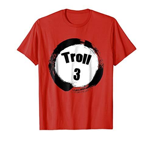 Mens Troll 3 Halloween Group Costumes Trick or Treat T-shirt Medium Red -