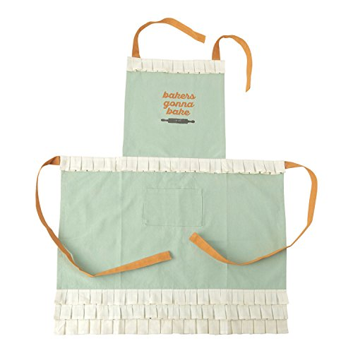 Hallmark Home Cotton Apron with Pocket, Mint