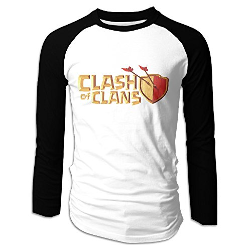 LOVEGIFTTO MEN Mens Clash Of Clans Game Long - Clash Of Clans T Shirt